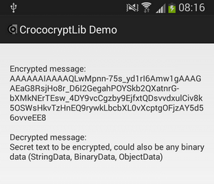 Easy encryption for Android apps – CrococryptLib 1 4