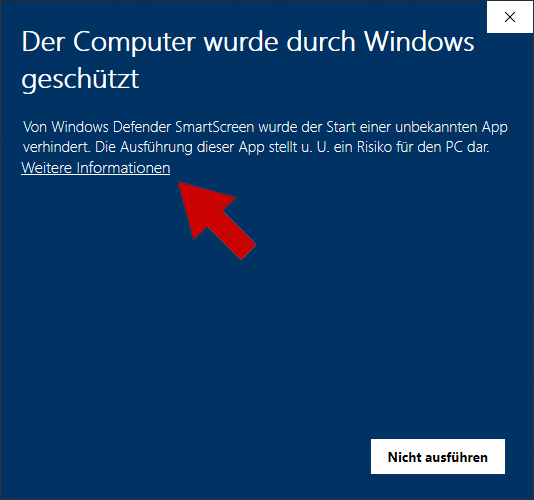 Windows 10 Sicherheit Installation - Schritt 1