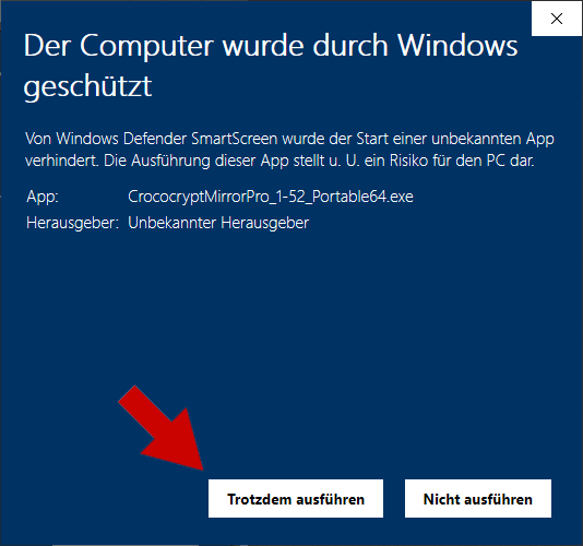 Windows 10 Sicherheit Installation - Schritt 2