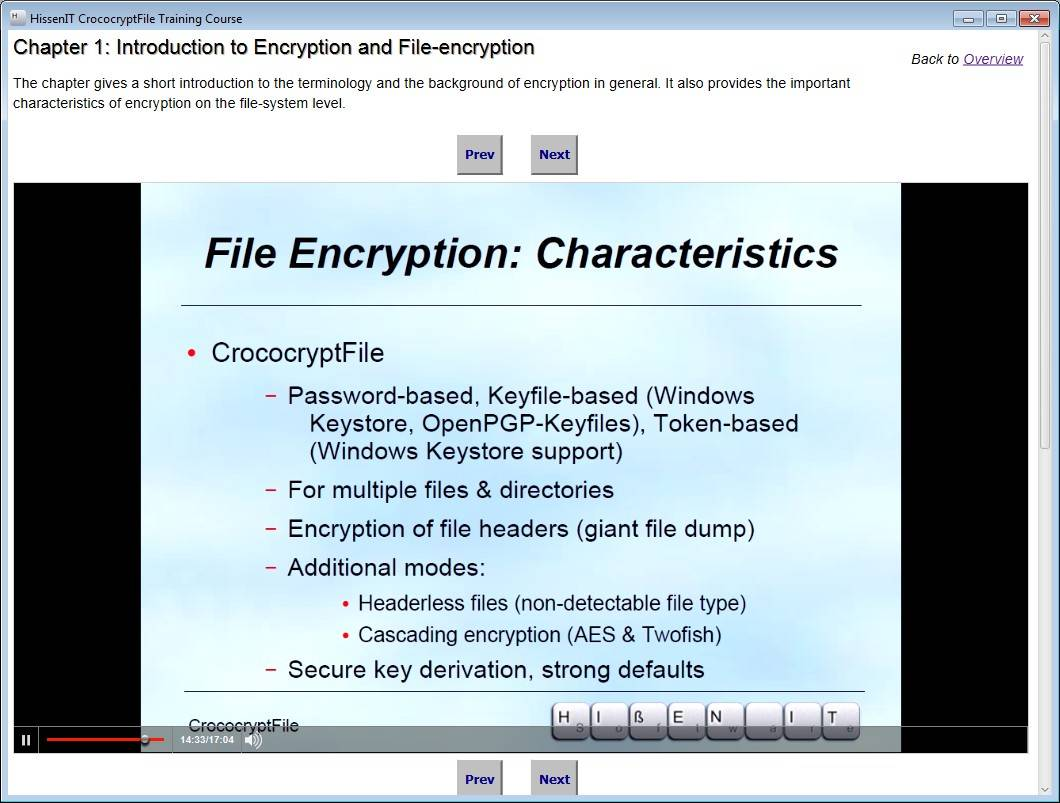 HissenIT CrococryptFile Training Course